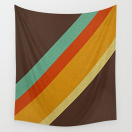 Retro 70s Color Palette Wall Tapestry