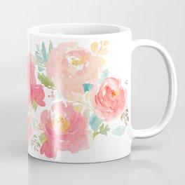 Watercolor Peonies Summer Bouquet Kaffeebecher