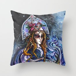 Snow Maiden Throw Pillow