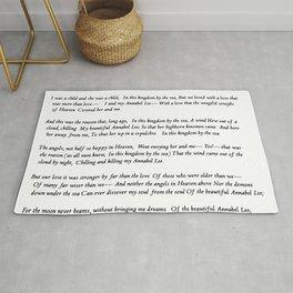 Annabel Lee Edgar Allan Poe Classic Poem Rug
