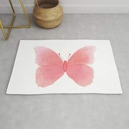 Watermelon pink butterfly Rug