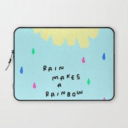 Rain Makes A Rainbow - pastel colorful illustration nursery kids room art Laptop Sleeve