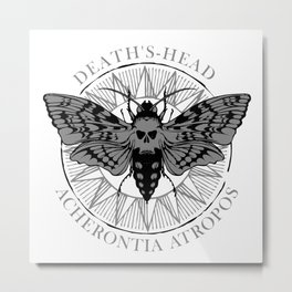 deaths head moth Metal Print