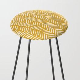 Boho Mudcloth Pattern, Summer Yellow Counter Stool