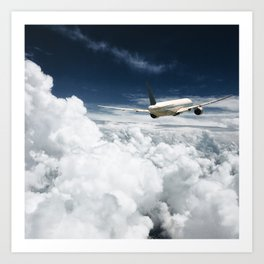 traveling on the clouds Art Print