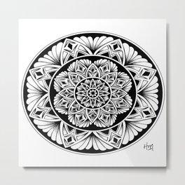 Mandala flower Metal Print