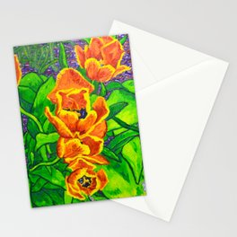 View of Tulips Stationery Cards