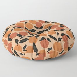 Seamless Citrus Pattern / Oranges Floor Pillow