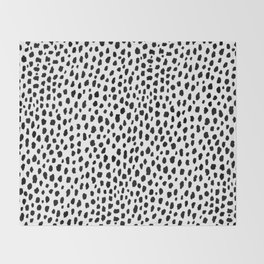 Dalmatian Spots (black/white) Throw Blanket