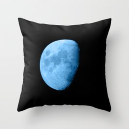 4K Dark Side of the Moon Ice Blue Throw Pillow