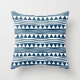 navy style Throw Pillow