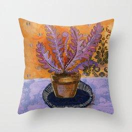 Tea in the solarium Throw Pillow