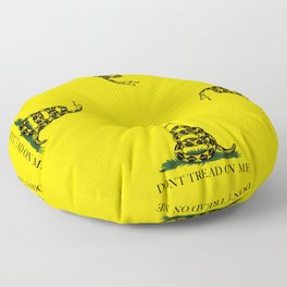 Gadsden Don't Tread On Me Flag Floor Pillow