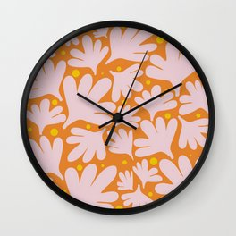 Modern Minimalist Abstract #10 - Peachy Orange Wall Clock