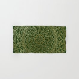 Mandala Royal - Green and Gold Hand & Bath Towel