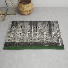 Tower of London Outer Curtain Wall Casemate Medieval Castle England Rug
