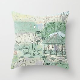 Summertime at Bryant Park Throw Pillow