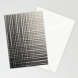 Horizontal & Vertical Lines Stationery Cards