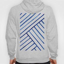 Watercolor lines pattern | Navy blue Hoody