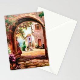 Paved road Stationery Cards