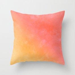 Peachy color cute grunge texture Throw Pillow