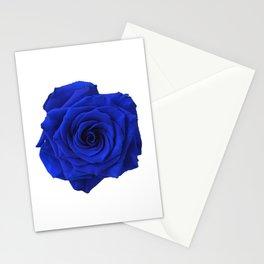 blue rose Stationery Cards