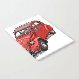 Red 2cv Notebook
