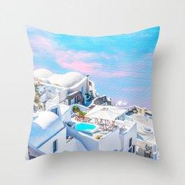 Greece Dreams #digitalart #travel Throw Pillow