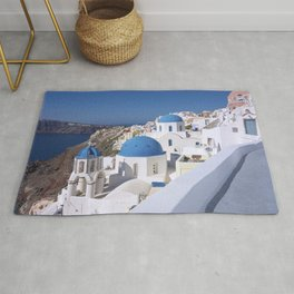 Oia Village in Santorini Rug