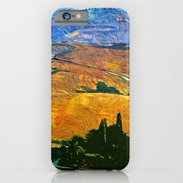 The Rolling Hills of Tuscany iPhone Case