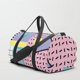 Memphis Pattern 27 - 80s - 90s Retro / 1st year anniversary design Duffle Bag