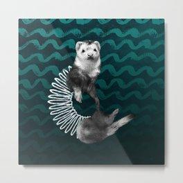 Ferret Slinky Metal Print