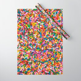 Rainbow Sprinkles Sweet Candy Colorful Wrapping Paper