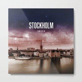 Stockholm Wallpaper Metal Print