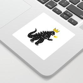 Jean-Michel Basquiat's Crown on Japanese Monster Sticker