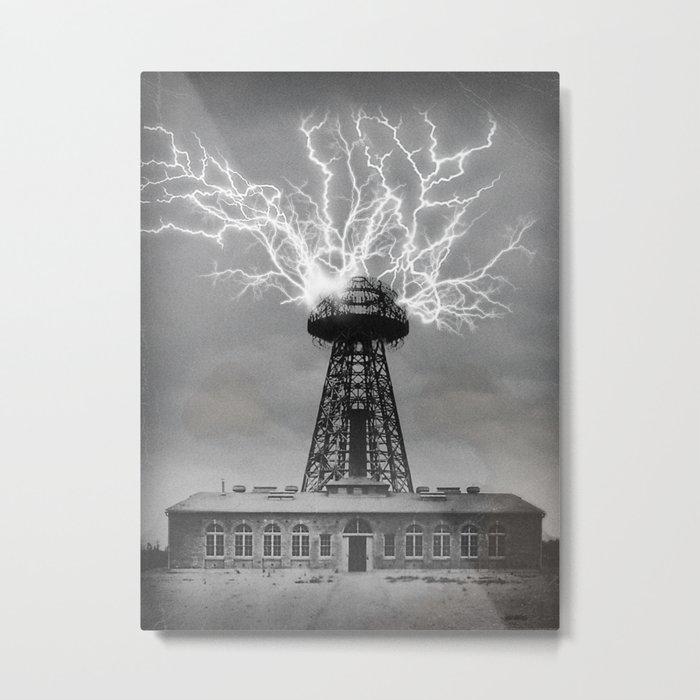 Tesla's Wardenclyffe Tower Metal Print