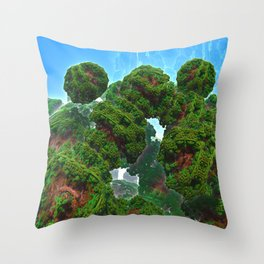 Bacterium Hedgerow Throw Pillow