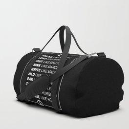Black History Duffle Bag