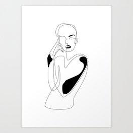Lined pose Kunstdrucke