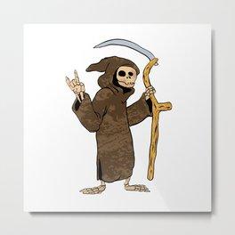 cartoon grim reaper. Metal Print