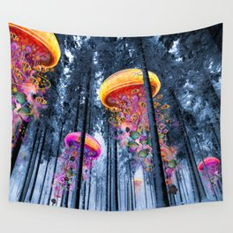 Winter Forest of Electric Jellyfish Worlds Wandbehang