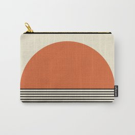 Sunrise / Sunset - Orange & Black Carry-All Pouch
