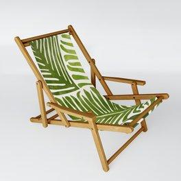 Summer Fern / Simple Modern Watercolor Sling Chair