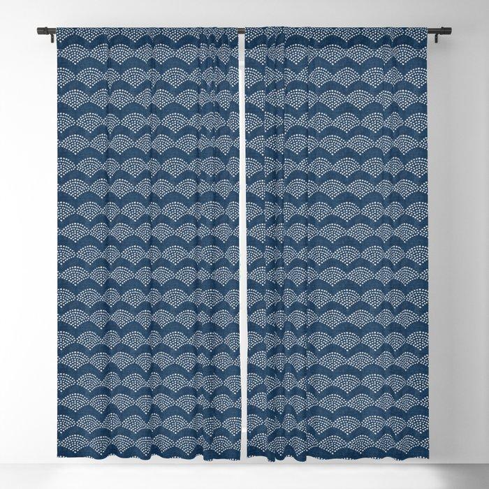 Wabi Sabi Arches in Blue Blackout Curtain