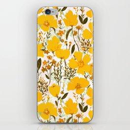 Yellow roaming wildflowers iPhone Skin
