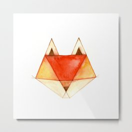 Geo Series - Fox Metal Print