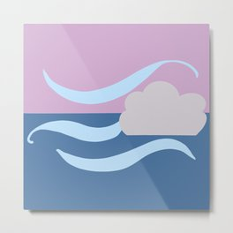 Wind and Pink Skies Metal Print