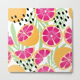 Grapefruit pattern 03 Metal Print