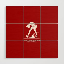 Running from Zombies Wood Wall Art