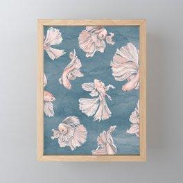 Blushing Bettas Framed Mini Art Print